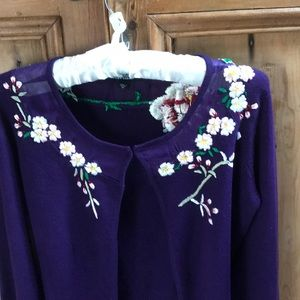 Betsey Johnson  embellished sweater size M